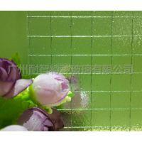 广州高透夹铁线玻璃 双面光滑方形格金属夹丝玻璃 门窗防火