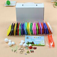 24色超轻粘土彩泥 橡皮泥无毒正品创意泥玩具送工具 每色20G