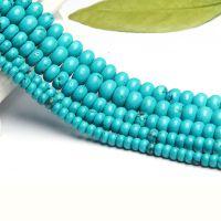 DIY 手工水晶饰品配件 绿松石盘珠圆柱隔珠半成品 厂家直销批发