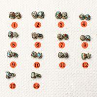 天然水晶 景泰兰DIY佛珠 藏式手链菩提尼泊尔彩珠铜珠配件