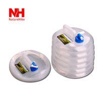 户外野营折叠水桶带水龙头 车载PE食品级储水桶 超轻便携水袋10L