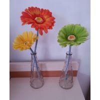 宜家纳迪餐桌小雨点插花花瓶玻璃透明插花瓶摆件富贵竹创意
