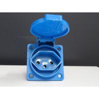 CE认证 IP44 蓝色黑色带胶垫瑞士防水工业插座