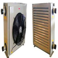 防爆型蒸汽热水暖风机 热水换热器 蒸汽热风机 钢管铝片散热器