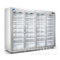 便利连锁四门玻璃展示柜冷藏冷冻柜水果饮料鲜花保鲜冰柜厂家批发