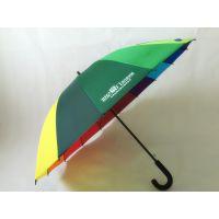 YL【雅乐制伞】优质16K彩虹广告 超大双人自动直杆伞 可印LOGO