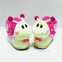 毛绒玩具厂家直销定制 冬季新款动物蜗牛棉鞋可爱毛绒保暖拖鞋