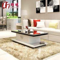 茶几简约现代钢化玻璃电视柜组合黑白钢琴烤漆客厅创意家具特价