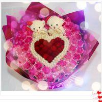 家居装饰品 纯手工天然云南干花爱心花束节日礼物送女友 求婚礼品
