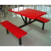 厂家直销 4人座餐桌椅 玻璃钢快餐桌 玻璃钢户外餐桌
