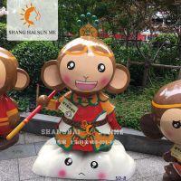 上海升美呆萌孙猴子模型 专业卡通模型定制 玻璃钢雕塑
