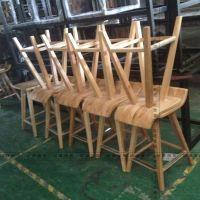 星巴克吧台椅定做星巴克新款实木吧椅生产厂家