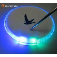 【厂家直销】LED发光杯垫 创意圆形电子杯垫 新款超薄塑胶啤酒垫
