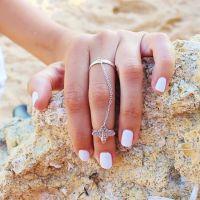R026 速卖通爆款欧美外贸饰品同款时尚简约可爱小蜜蜂连指戒指 女