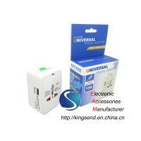 USB Global Travel Electrical Plug Socket Convertor Adapter EU US AU UK