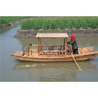 4m户外单蓬船 木制单蓬手划船 湖面农用单蓬木船 水上景区观光船