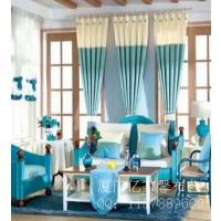 厦门窗帘15160029228客厅卧室窗帘田园风格窗帘遮光麻窗帘环保透气意大利绒雪尼尔窗帘布地毯塑胶