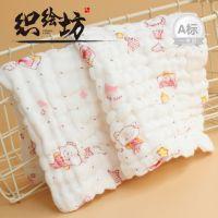 织绘坊婴儿六层水洗卡通印花纯棉无荧光吸汗巾