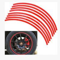 17寸轮毂车贴 轮胎反光圈车贴纸 汽车改装 车贴车轮贴 轿车个性贴