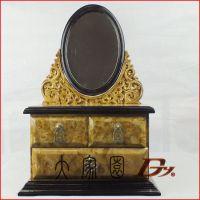 黄金樟高档首饰盒 公主欧式化妆盒 饰品首饰收纳盒 结婚生日礼物