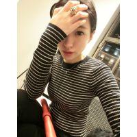 【YESWOMNE】小宜原创设计 2014秋冬新款女装 条纹毛衣百搭打底衫