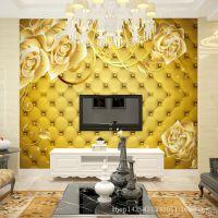 3D软包大型壁画 酒店床头背景墙专用大型壁画 厂家直销一件代发