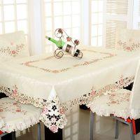 外贸 欧式台布 刺绣布艺 茶几布 圆桌布 餐桌布餐椅套椅垫坐垫