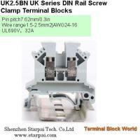 UK2.5B UK Series DIN Rail Screw Clamp Terminal Blocks