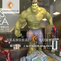 上海升美钢铁侠绿巨人模型 专业定制卡通模型 玻璃钢雕塑