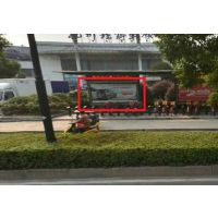 杭州理想汽车城出入口处候车亭