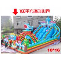 厂家直销熊出没充气城堡 高滑梯充气蹦蹦床 气包光头强充气滑梯