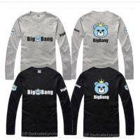 男女情侣BIGBANG小熊皇冠卡通动漫GD权志龙长袖t恤潮款韩版打底衫