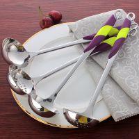 厂家供应 3厘厚无磁紫天鹅火锅勺 高档不锈钢 汤漏 厨具 烹饪工具