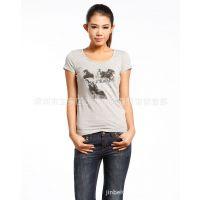 厂家低价促销 女式夏装打底衫 韩国纯棉短袖女T恤 批发女士T恤