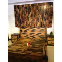 船木床 船木大床 船木双人床 床头柜 卧室套装