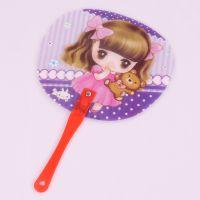 韩版可爱卡通扇子 塑料扇子 超萌迷你手持扇 促销广告扇定做LOGO