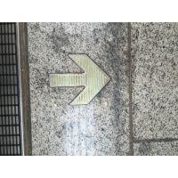地铁轨道消防逃生标识,不锈钢荧光地贴,箭头自发光地铁地贴