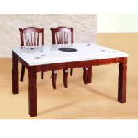 古典中式煤气灶火锅桌 自助火锅桌 倍斯特家具性价比