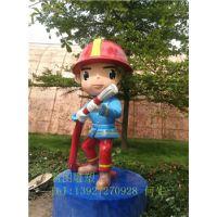 供应玻璃钢雕塑制造 三水玻璃钢消防卡通雕塑 消防卡通雕塑厂家