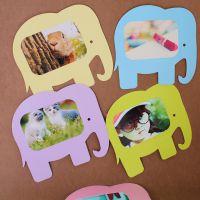 创意家饰品 5寸全景卡通大象DIY悬挂照片墙相片墙相框墙