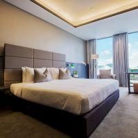 现代精品酒店套房家具 卧室成套家具 快捷酒店家具 工程定制