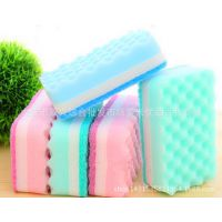 日本5P洗碗海绵 加厚波浪形抗菌洗碗巾海绵百洁布刷碗擦 洗碗布