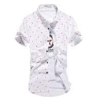 专业定制夏季男式休闲翻领衬衫 广州青年休闲衬衫厂家定做批发