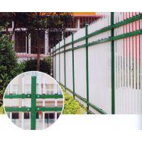 河北丛瑞专业生产小区围墙锌钢护栏 绿色三横杆组装栏杆