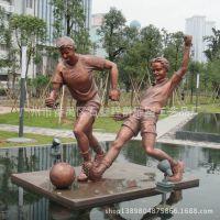 城市人物雕塑 玻璃钢足球人定制 园林景观装饰品