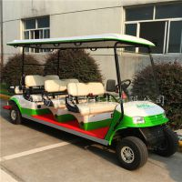 直供滨州8座酒店接待旅游车,园区参观游览电动车,电动看房高尔夫球车