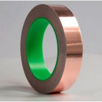 单导铜箔胶带 铜箔单面导电 导电胶带屏蔽 防辐射耐高温50mm*1m