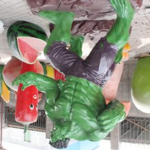 玻璃钢动漫人物造型圆雕电影院2.6米海蜇王系列雕塑树脂大摆件