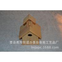 厂家加工定制木质工艺品 小鸟窝 可加印logo 免费设计 园林鸟窝