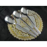 2厘不锈钢汤勺花边勺圆勺 冰尖( 冰圆) 酒店调羹 厨房餐具